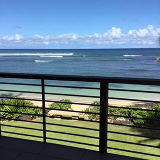 few of beach from patio