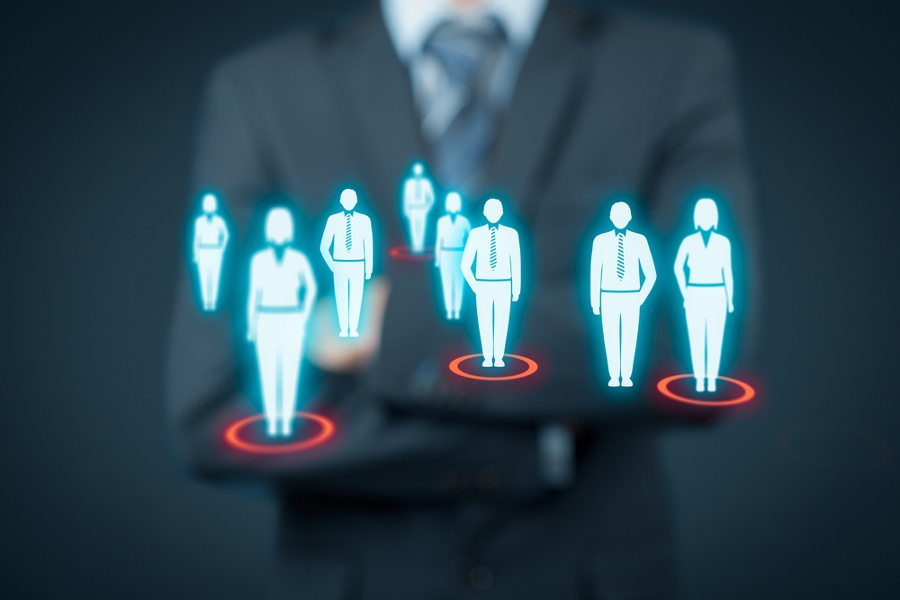 Business leader looking at buyer personas