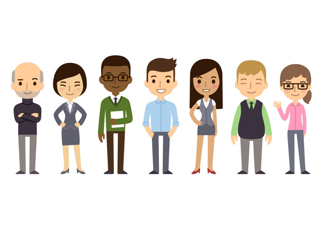 Illustration of different people