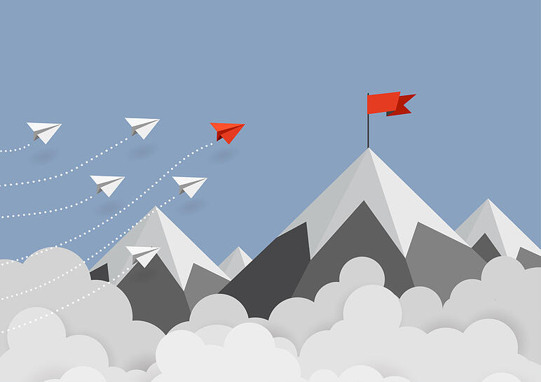 Goal on a mountain top