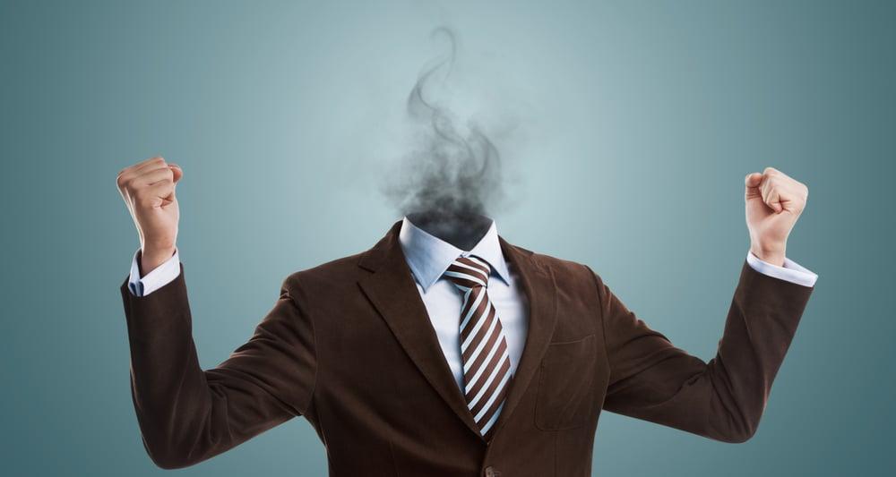 man experiencing burnout