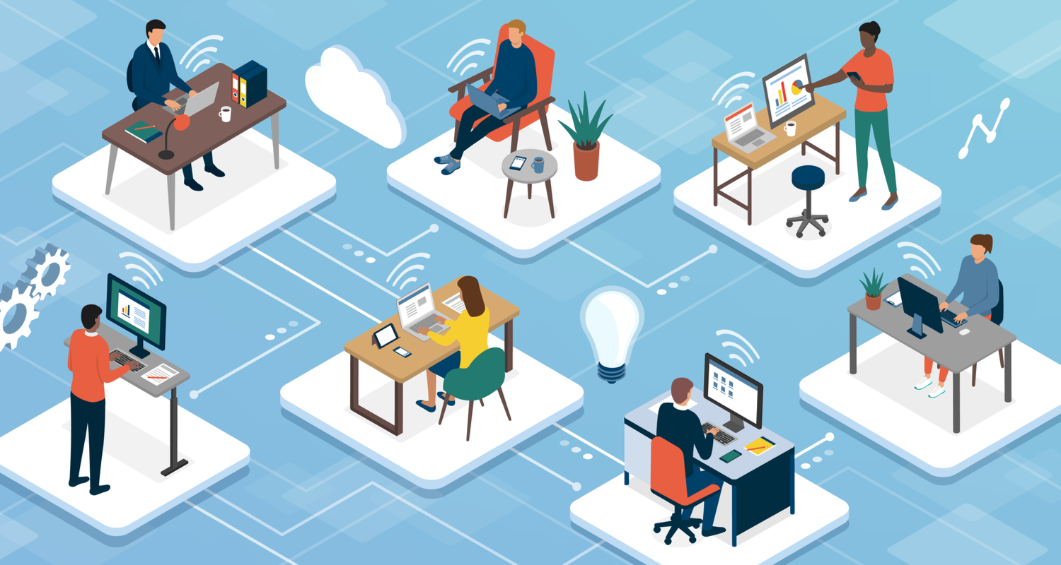 remote workers illustration